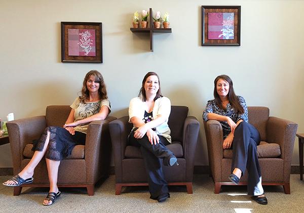Left to right: Jennifer Landon, Brandi Whitmill, and Emily Geisler.