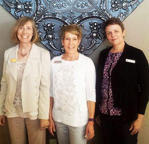 Left to right: Stephanie Price, Marilyn Knighton, and Jill Nash