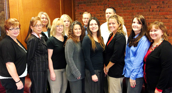 Back Row (Left to Right):  Tami Wade, Alison Banta, Dan Hanna, Todd Davis Front Row (Left to Right): Becky Loomis, Corrinna Schnepf, Lori Hoover, Tiera Parker, Kathlean Brown, Jennifer Schernecker, Heather Erickson, Vicky Hanson Not in picture: Kathy Lords, Janel Young, Lori Jo Searcy, Manuela McVey