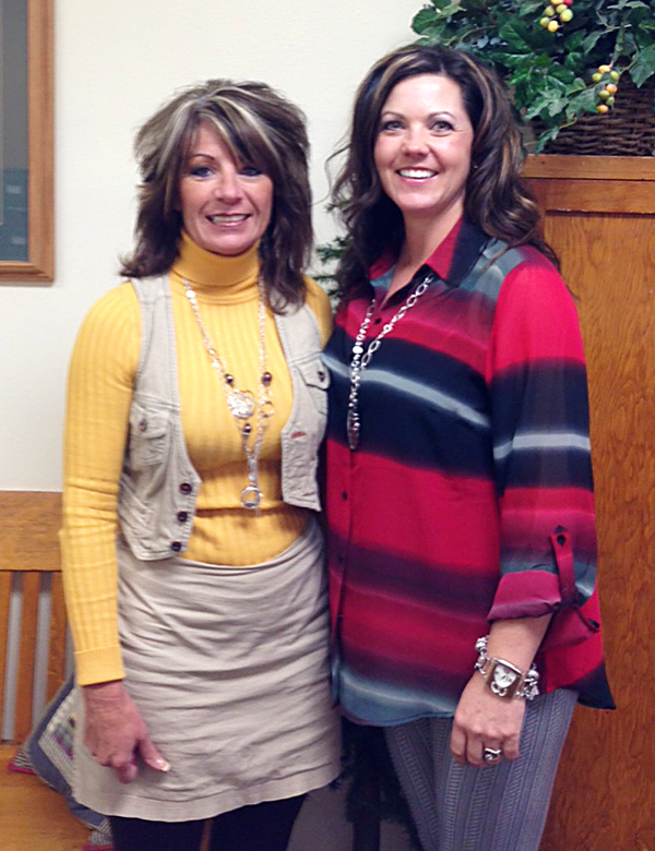 Sally Jo Hill - Escrow Assistant, and Angie Mendenhall - Asst. VP and Branch Manager