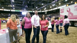 'Pink on the Dirt Luncheon' - Left to right: Stacy Woods, Mychal Stiehl, and Star Nieves.