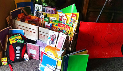 School supply donations by Alliance employees.