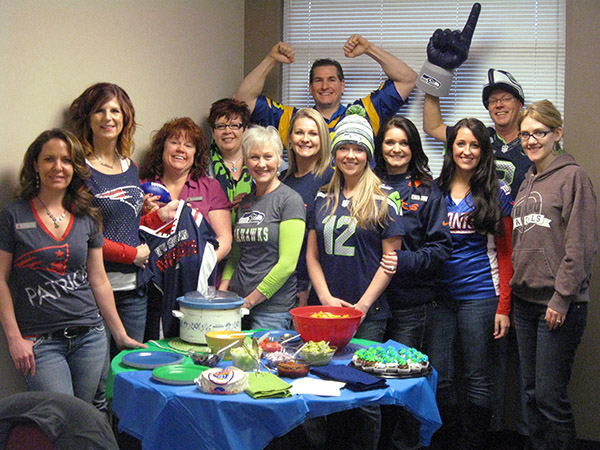 Front row, left to right: Stephanie Roberts, Kasey Kelley, Monique Faux, Stephanie Davenport, Lynsie Odd. Middle row, left to right: Priscilla Miller, Kristy Anstine, Kelley Sweeney, Jessica Schlemm, Aimee Kinsey. Back row, left to right: Jared Janke and Jack Wheir. Not pictured: Autumn Cannon and Jennifer Upton.