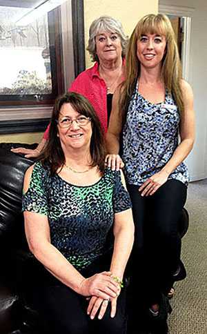 Left to right:  Tina Dettloff, Laurie Santee and Heidi Semmler.