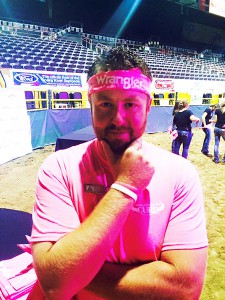 Mychal Stiehl supporting Stampede for the Cure.