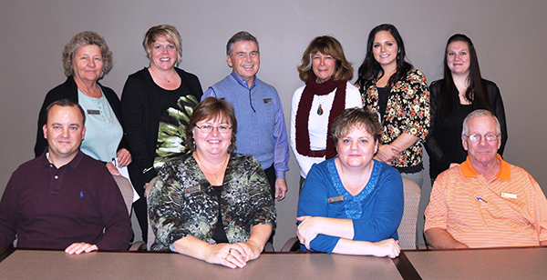 Front row, left to right: Ryan Jensen, Laurie Cromwell, Tammy Long, and Chris Stohl. Back row, left to right: Cathy Buck, Shannon Croft, Ron Romrell, Milli Gabettas, Whitney Gilstrap, and Rachael Payne. (Not pictured: Diane Dexter)
