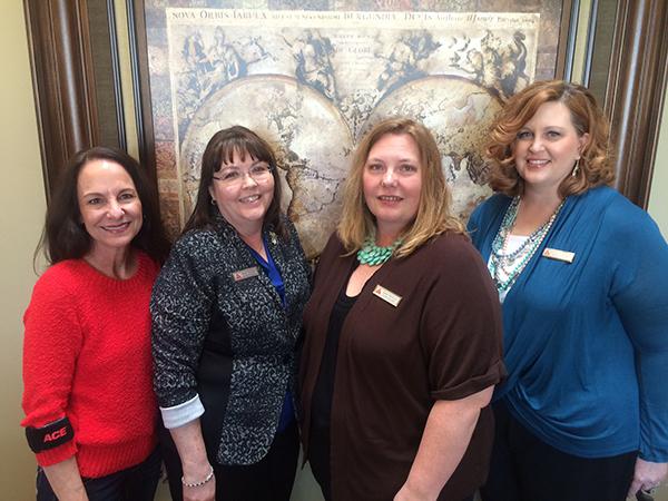 Left to right: Sally Loosli, Becky Hughes, Jamie Springer and Danette Kirkland. Not pictured: Scott Roberts.