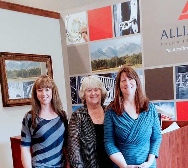 Left to right: Heidi Semmler, Laurie Santee, and Tina Dettloff.