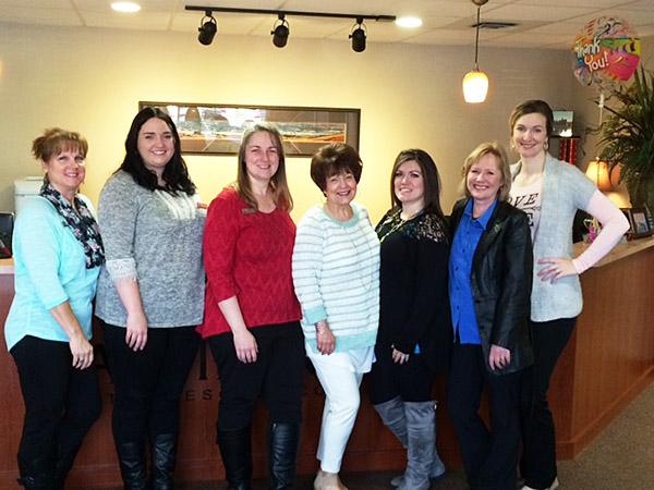 Left to right: Tami Randall, Elizabeth Bigelow, Debbie Heagy, Kathy Martin, Celina Reynold, Bonnie Orr, and Lacey Meredith.
