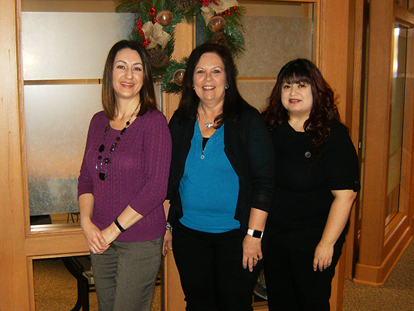 Pictured left to right: Jananne Keating, Robin Aberasturi and Mirt Baldazo. Not pictured: Hope Darland.